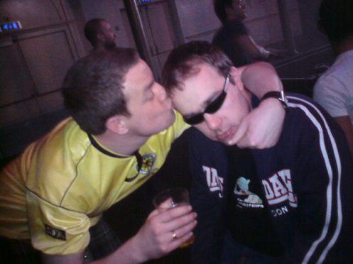 Innes birthday kiss